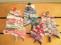Crafty Fabric Christmas Trees
