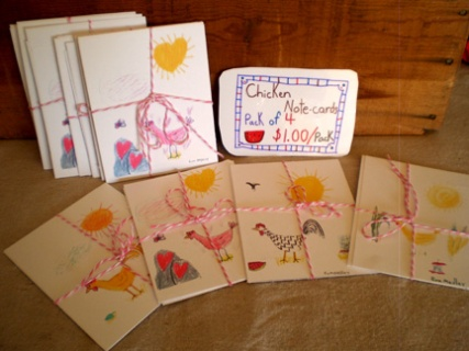 Chicken Notecards by Eva