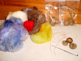 Needle Felted Acorn Kit
