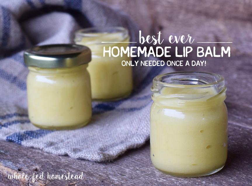 Homemade Honey LipBalm