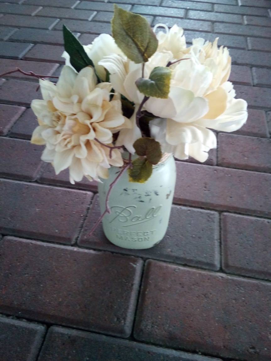 Chalk Paint Mason Jar Project