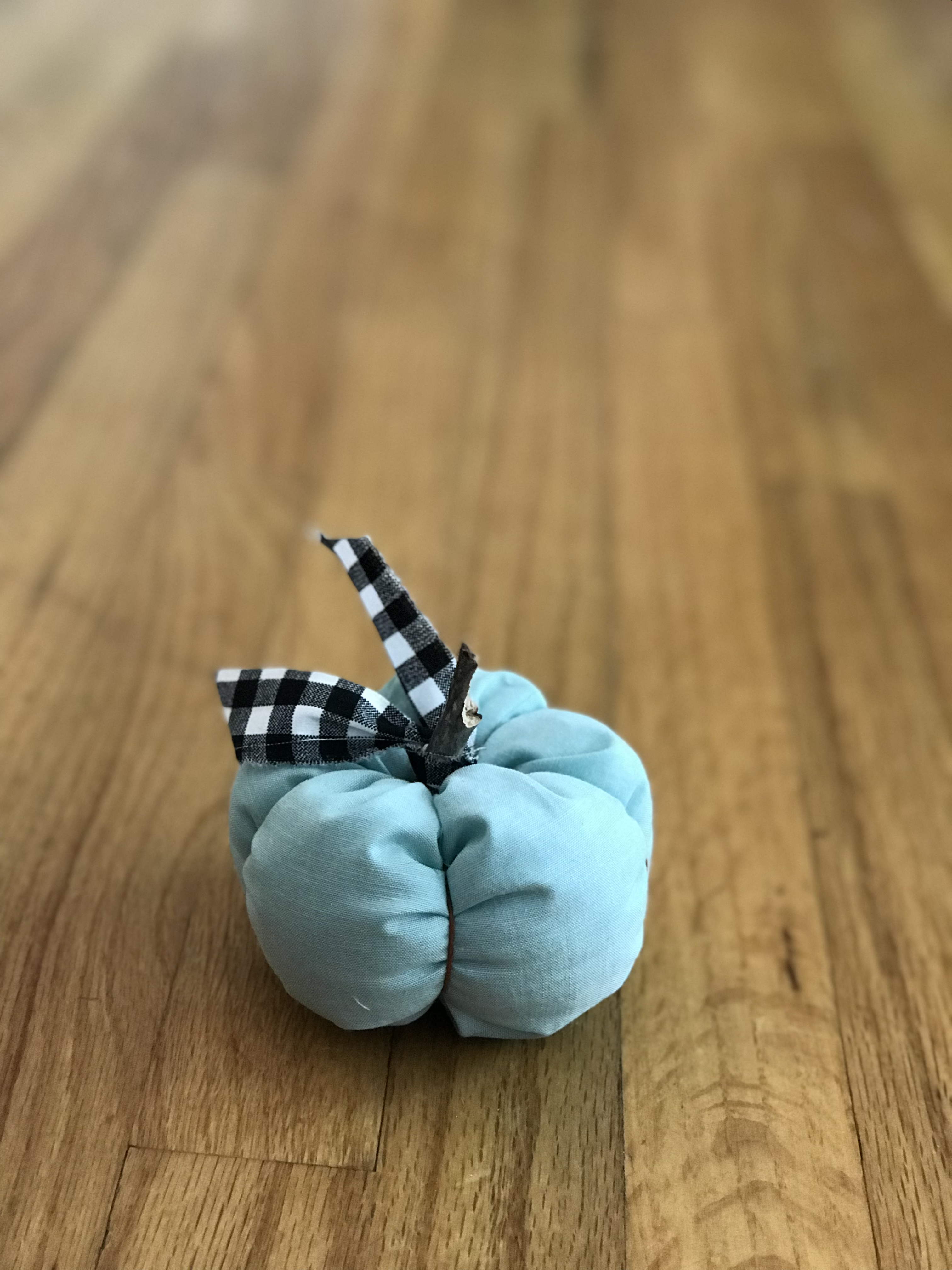 Easy Fabric Pumpkin Tutorial mini aqua